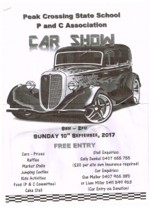 Peak Crossing School Car Show 10 Sept